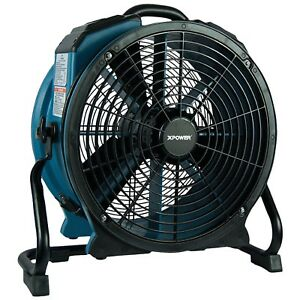 3600 Cfm Stackable Pro Axial Air Mover Dryer Fan With Timer Power Outlets
