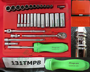 New Snap On 6 Pts Metric General Set Lime Green Ratchet Screwdriver Tl72 131tmpb