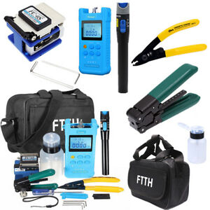 Ftth Fiber Optic Tool Kit Fc 6s Fiber Cleaver Optical Power Meter Fault Locator