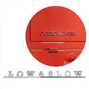Vw Low Slow Script Emblem Badge For Volkswagen Bug Beetle Bus Ghia Thing T1 T4