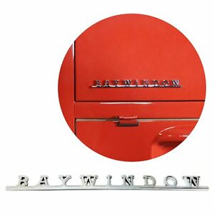 Vw Baywindow Script Emblem Badge For Volkswagen Bug Beetle Bus Samba Camper
