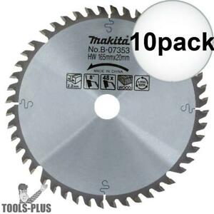 Makita B 07353 6 1 2 48 Tooth Circular Saw Blade For Sp6000 Plunge Saws 10x New