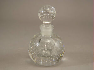 Czech Signed Perfume Controlled Bubble Vintage Glass Long Dauber