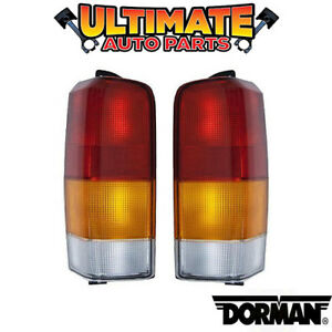 Tail Light Lamp Left Right Set Lights Lamps For 97 01 Jeep Cherokee Xj Sport