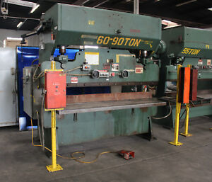 90 Ton X 8 Chicago 68 l Power Press Brake Sheet Metal Bender