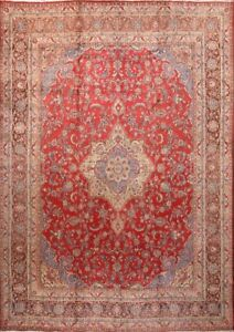 Stunning Semi Antique Kashmar 10x14 Persian Area Rug Wool Carpet 13 7 X 9 7