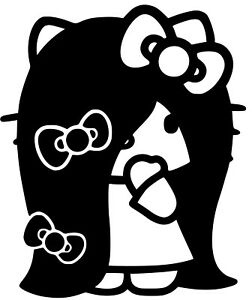 Hello Kitty Emo Rock Punk Vinyl Decal Sticker For Cars Windows Laptops And More
