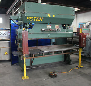 55 Ton X 8 Chicago 68 b Power Press Brake Sheet Metal Bender