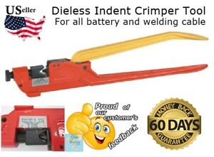 Dieless Indent Lug Crimper Tool Electrical Battery Terminal Cable Wire