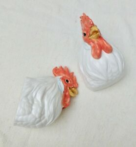 Japanese Porcelain Wall Pocket Vase Rooster Vases Pair Of Rooster Wall Vases