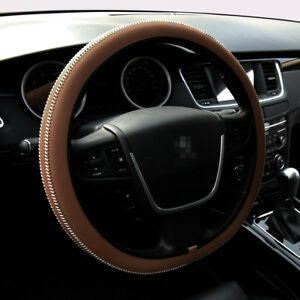 Car Steering Wheel Cover Universal Fit Protection Hand Made M 15 Brown
