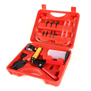 Brake Bleeder Hand Held Vacuum Pump Tester Tool Kit Adapters Included Car Motor