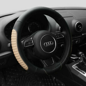 15 Car Steering Wheel Cover Pu Leather Universal Fit Protection M Beige