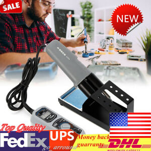 Yihua 938d Portable Hot Tweezers Mini Soldering Station With Stand 110v 120w Us