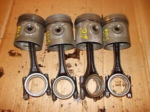 Allis Chalmers C B Ib Tractor Ac Engine Motor 4 Pistons Rings Rods