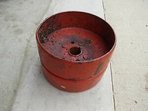 Allis Chalmers B Tractor Ac C Good Original Steel Flat Belt Pulley
