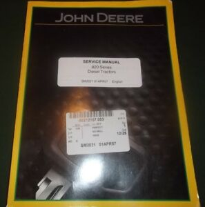 John Deere 820 Series Diesel Tractor Technical Service Shop Repair Manual Sm2021