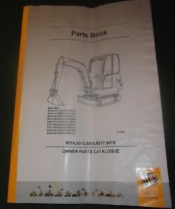 Jcb 8014 8015 8016 8017 8018 Mini Excavator Parts Manual Book Catalog
