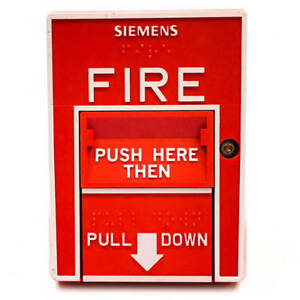 Siemens 500 893081 Fire Alarm Manual Pull Station Msi 20b Red Double Action