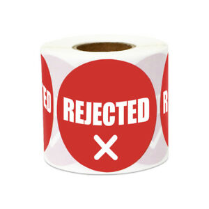 Rejected Stickers Transport Inventory Warehouse Count Round Labels 2 x2 10pk