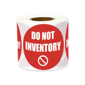 Do Not Inventory Stickers Warning Caution Warehouse Labels 2 Round Red 10pk