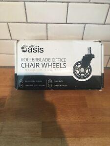 The Office Oasis Rollerblade Office Chair Wheels Heavy Duty Protects All Floor