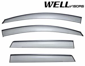 Wellvisors For 07 14 Ford Edge Side Black Trimwindow Guard Visors Deflectors