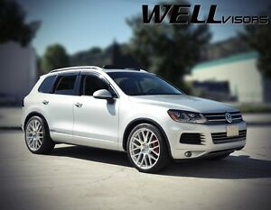 Open Box Wellvisors For 11 up Volkswagen Touareg Window Visors W Chrome Trim