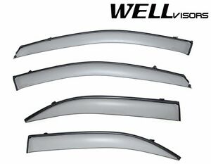 Wellvisors For 03 09 Kia Sorento Clip On Style Black Trim Side Window Visors