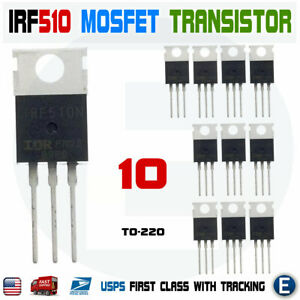 10pcs Irf510n Irf510 Power Mosfet N channel Transistor 5 6a 100v Irf510pbf To 22