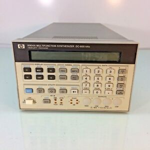 Hp Agilent 8904a Multifunction Synthesizer Dc With Opt 001 004 Tested