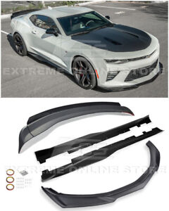 For 16 up Camaro Ss Zl1 Track Style Front Splitter Side Skirts Rear Spoiler