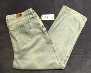 LEE Classic RELAXED STRAIGHT FIT Women Jeans size 18W PETITE Distressed Good