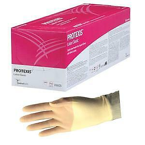 Protexis Latex Classic Surgical Gloves W Nitrile Coating 9 8 Mil 7 5in Box 50
