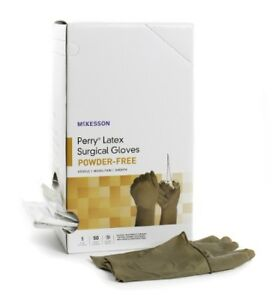 Surgical Glove Mckesson Perry Powder Free Latex Size 7 5 Box Of 100 ships Free
