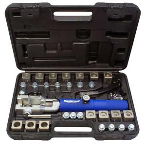 Mastercool 72475 prc Blue And Silver Universal Hydraulic Flaring Tool Set