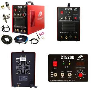 Lotos Ct520d Plasma Cutter Tig Stick Welder 3 In 1 Combo Welding Machine