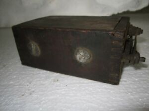 Antique 1900 S Ford Model T Model A Wood Box Battery Ignition Coil Genuine