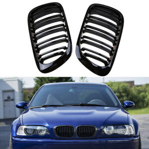 For Bmw E46 3series M3 Coupe Cabrio Dual Slat Kidney Grille Grill New 2000 2007