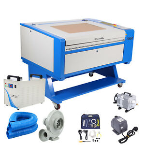 80w Co2 Usb Laser Engraving Cutting Machine 700x500mm Cw 3000ag Water Chiller