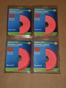 4 Packs Of Monarch Easy load 1136 Two line Pricemarker Labels 5 8x7 8