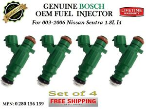 4x Fuel Injectors Oem Bosch For 2003 2006 Nissan Sentra 1 8l