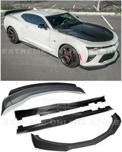 Zl1 1le Track Style Front Splitter Side Skirts Rear Spoiler For 16 up Camaro Ss