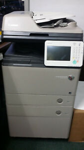 Canon Imagerunner Advance 400if Copier W 2 Trays And A Cabinet