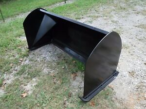 Bobcat Skid Steer Attachment 6 72 Snow Pusher Box Plow Blade Free Ship
