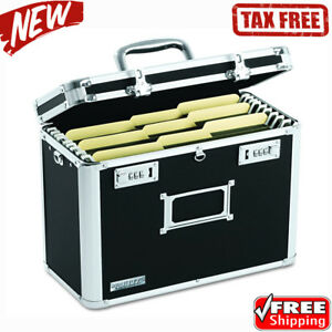 Locking File Box Folder Durable Lock Storage Chest Portable Safe For Transport