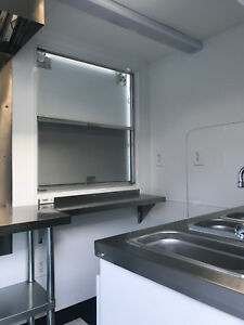 Food Concession Trailer 6 x8 With Stainless Steel Hood Exhaust Fan W A c