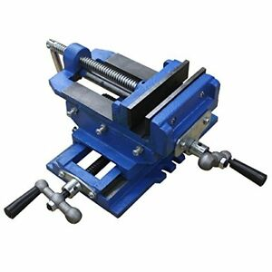 Hardware Factory 2 Way 4 inch Drill Press X y Compound Vise Cross Slide Mill
