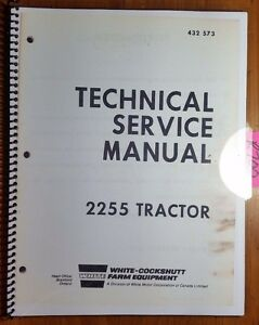 White Oliver Cockshutt 2255 Tractor Engine Clutch Shift Pto Service Manual 12 72