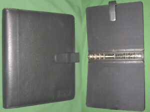 Folio 1 0 Black Leather Day Timer Planner 8 5x11 Monarch Franklin Covey 8178